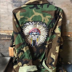 1990's Upcycled Military Back Patch Jacket